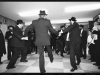 Men dancing  at a Hasidic Jewish wedding, Stamford Hill.